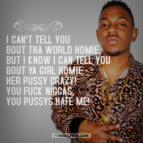 Kendrick Lamar Cant Tell You Bout The World  Facebook picture