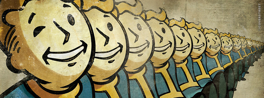 A lot of Vault Boys Fallout Facebook Cover