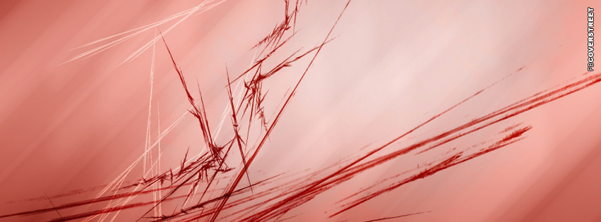 Red Abstract Fractals  Facebook Cover