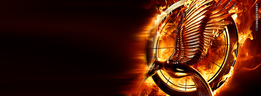 The Hunger Games Catching Fire Logo Movie Facebook cover