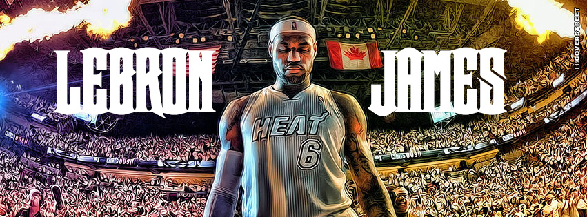 Miami Heat HDR LeBron James  Facebook cover