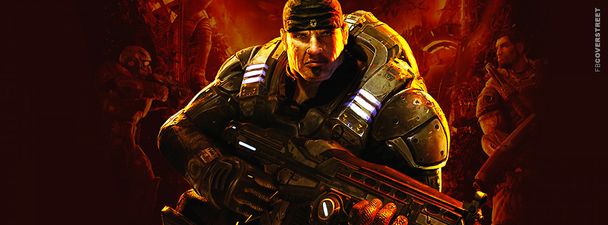 Gears of War 3 Cover  Facebook cover
