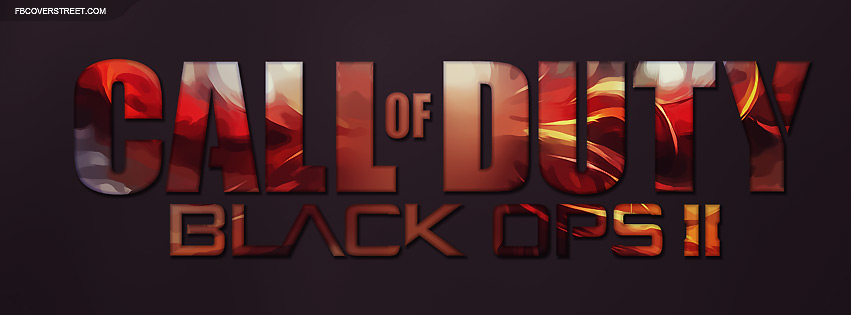 Call of Duty Black Ops II Abstract Logo Facebook Cover