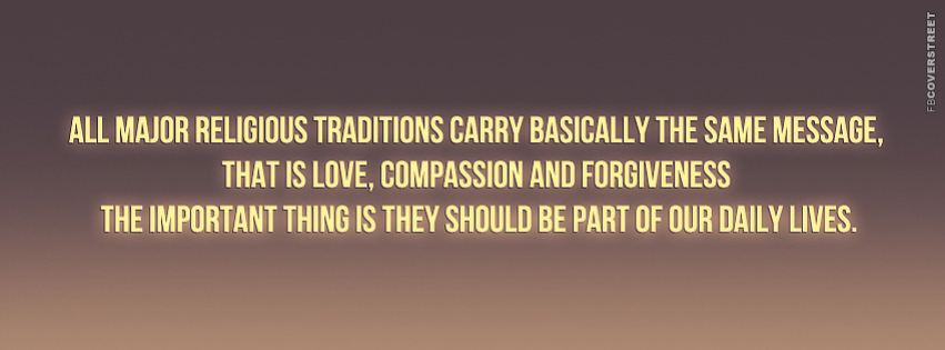 All Major Religious Traditions  Facebook cover