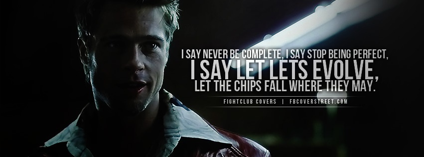 Fight club quotes cover photo facebook #1