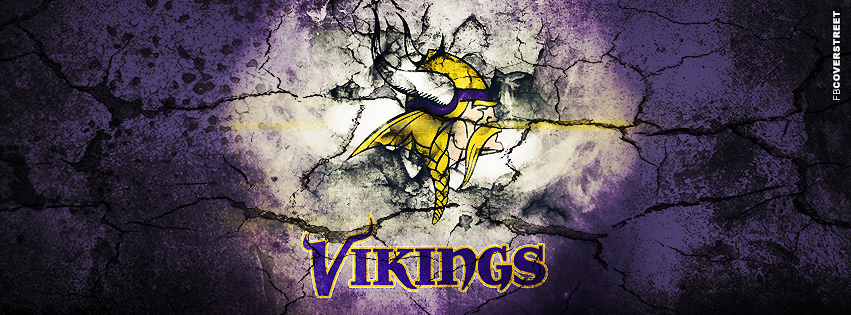 Minnesota Vikings Grunged Logo Facebook cover