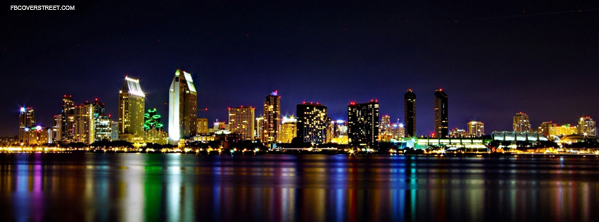 San Diego Colorful Skyline 2  Facebook cover