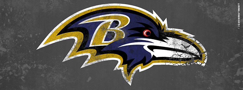 Baltimore Ravens Grunge Logo Facebook cover