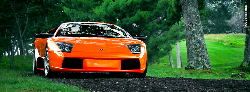 Lamborghini Murcielago Orange  Facebook cover