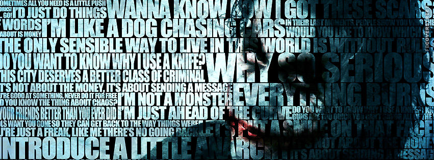 The Joker Quotes  Facebook Cover