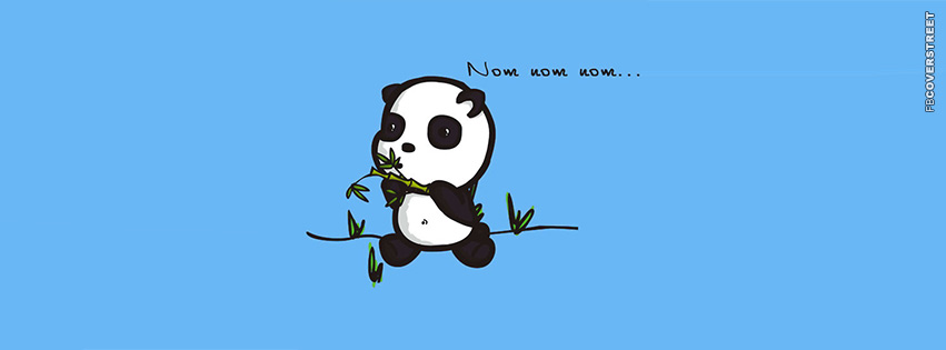 Nom Nom Nom Panda Bamboo  Facebook cover