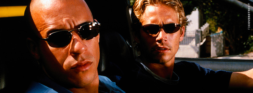 Vin Diesel and Paul Walker Fast and Furious Facebook cover
