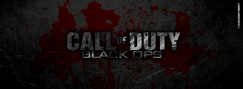 Call of Duty Bloody Logo  Facebook cover