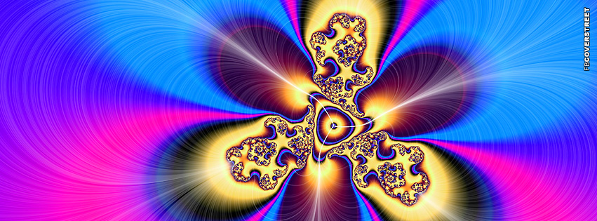 Abstract Psychedelic Explosion  Facebook Cover