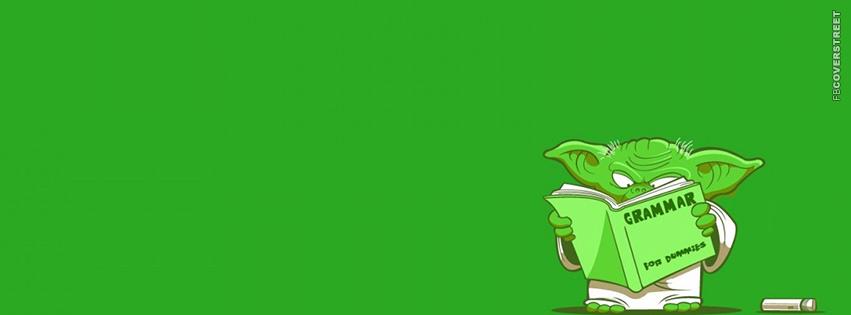 Yoda Learning Grammar  Facebook Cover