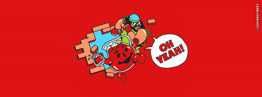 Oh Yeah Macho Man and Kool Aid Man  Facebook cover
