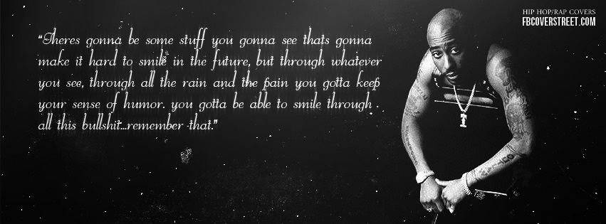 Tupac Shakur Smile Facebook Cover