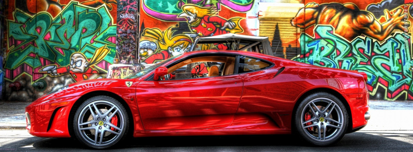 HDR Ferrari  Facebook cover