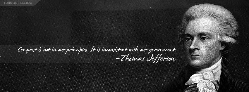 Thomas Jefferson Principles Quote Facebook cover