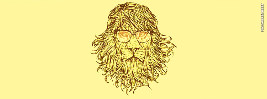Hipster Lion  Facebook Cover