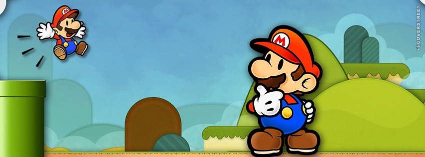 Super Mario Video Game Vector  Facebook cover
