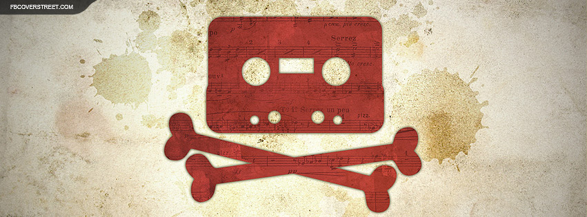 The Pirate Bay Skull and Bones Tape Cassette Facebook Cover