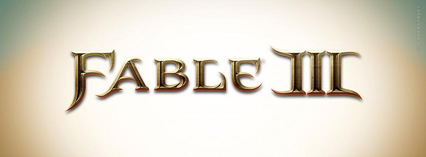 Fable 3 Logo Facebook cover