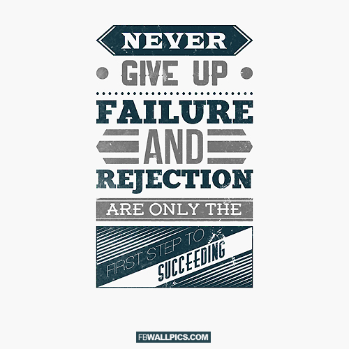 Failure and Rejection  Facebook picture