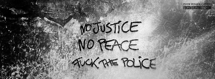 No Justice No Peace Facebook cover