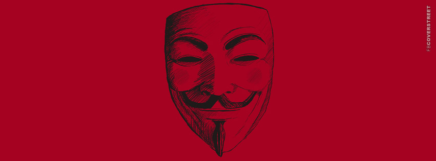 V For Vendetta Anonymous Minimal Mask  Facebook Cover