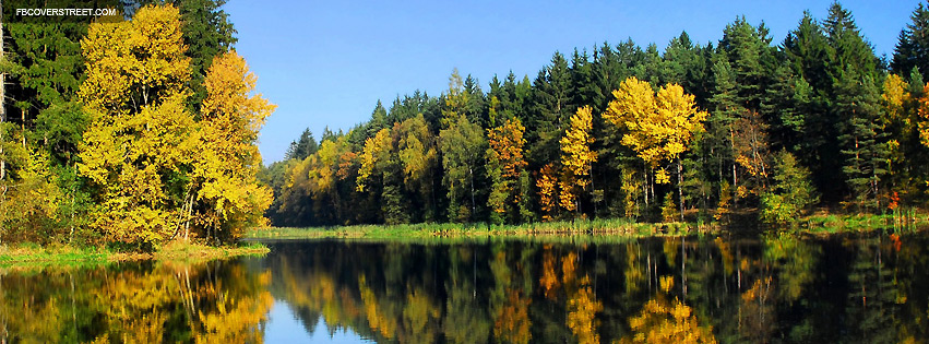 Fall Forest Lake Facebook Cover