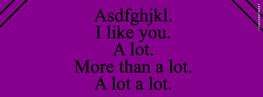 I Like You More Than Alot  Facebook cover