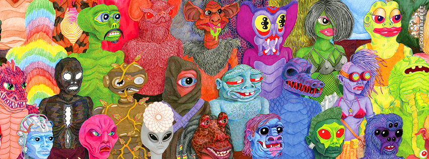 Weird Alien Art Facebook cover