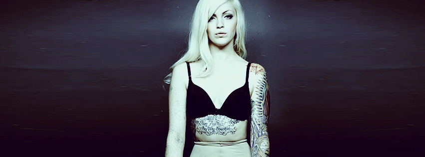 Cute Tattooed Blonde Girl Facebook cover