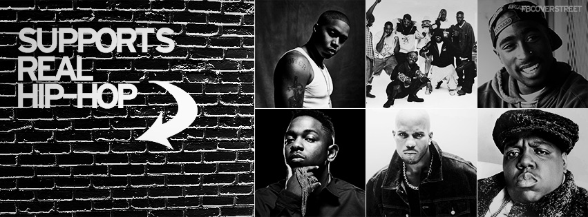 Supports Real Hip Hop Arrow Facebook Cover