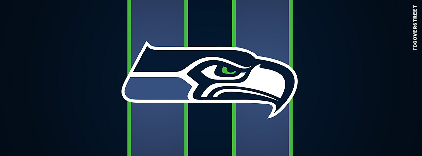 Seattle Seahawks Striped Logo Facebook cover
