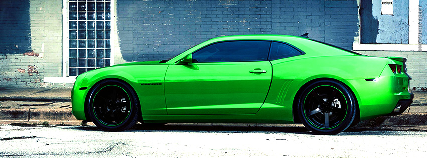 Lime Green Chevrolet Camaro  Facebook cover