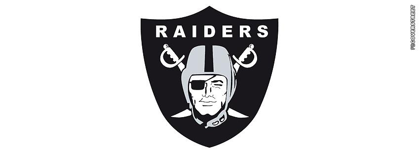 Oakland Raiders Simple Logo  Facebook cover
