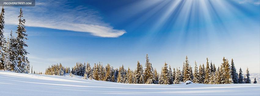 Winter Sunlight Photograph Facebook cover