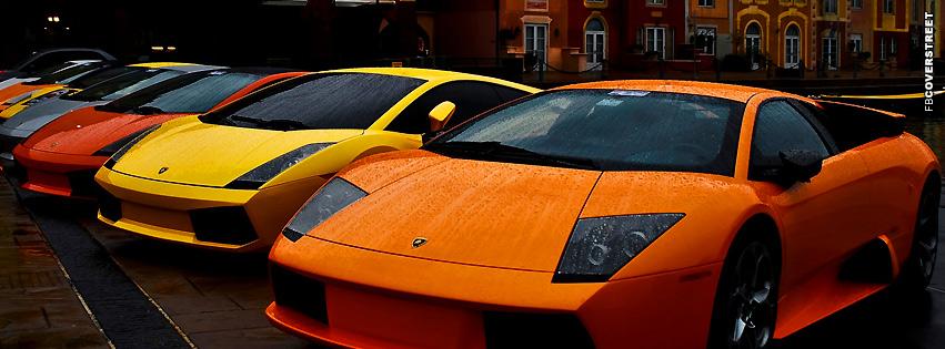 Orange and Yellow Lambos  Facebook cover