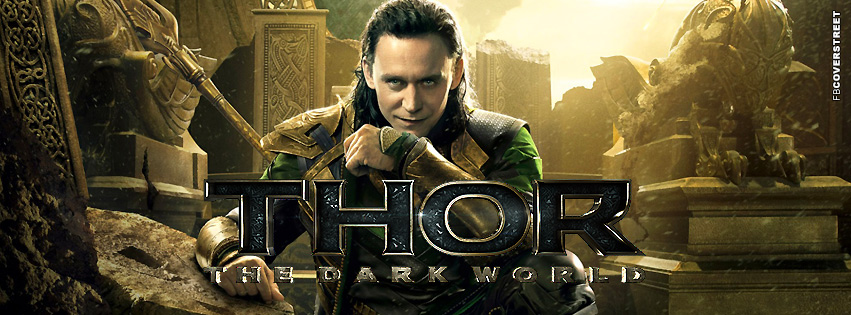 Loki Thor 2 The Dark World Facebook Cover