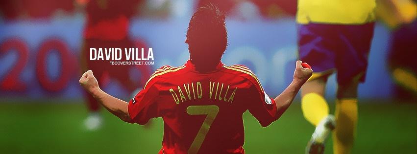 David Villa Spain Jersey Facebook Cover