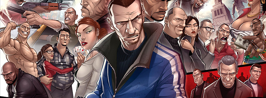Grand Theft Auto 4 Patrick Brown Artwork  Facebook cover