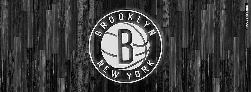 Brooklyn Nets Court Floor Logo  Facebook Cover