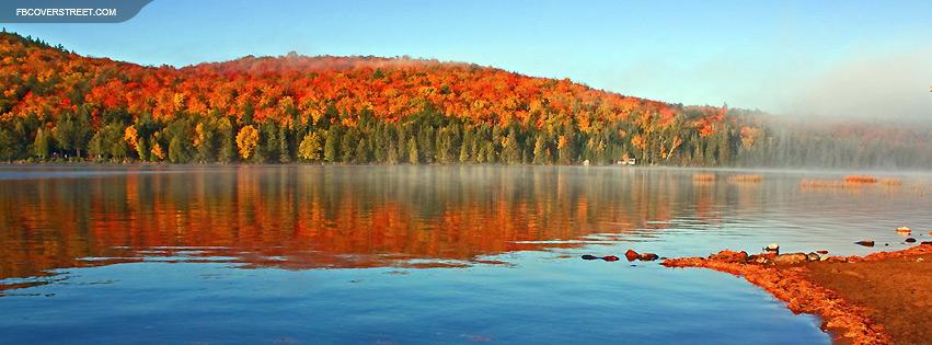 Autumn Lake Shore Facebook Cover