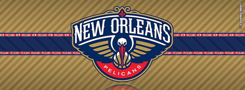 New Orleans Pelicans Striped Facebook Cover
