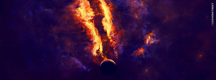 Vibrant Space Colors  Facebook cover