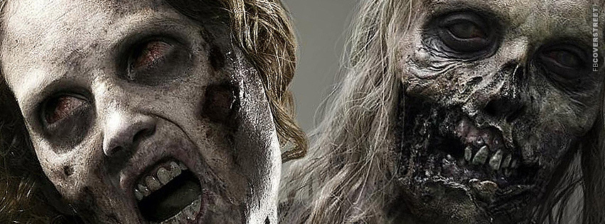 The Walking Dead Filthy Zombie Faces  Facebook Cover
