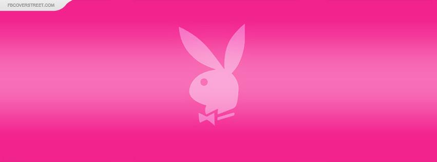 Playboy Bunny Pink Logo Facebook Cover