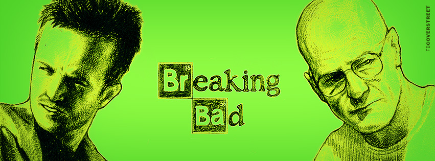Breaking Bad Jesse and Walt Drawing Facebook Cover